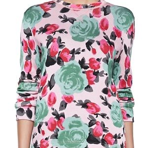 Marc Jacobs Jerrie Rose Floral Sweater sz Small